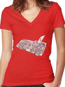 Chaparral Sports car. Women's Fitted V-Neck T-Shirt