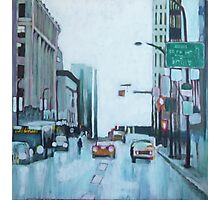 Downtown Lights, acrylic on canvas Photographic Print