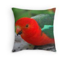 Rosella at Kia Ora Caravan Park, Lorne Vic Throw Pillow