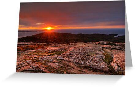 Sunrise from Cadillac Mountain by Oscar Gutierrez