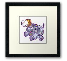 Wild Animal League Elephant Baseball  Framed Print