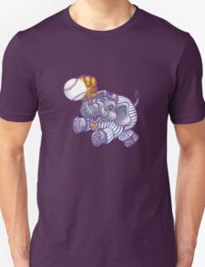 Wild Animal League Elephant Baseball  Unisex T-Shirt