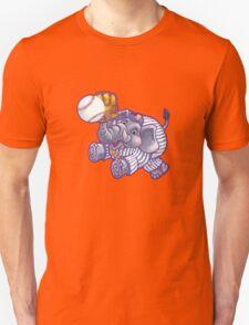 Wild Animal League Elephant Baseball  Unisex T-Shirt