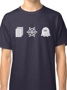 Paper, Snow, A GHOST! Classic T-Shirt