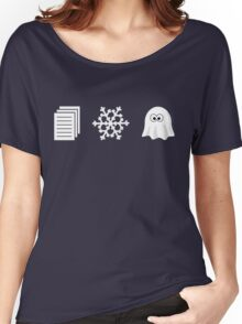 Paper, Snow, A GHOST! Women's Relaxed Fit T-Shirt