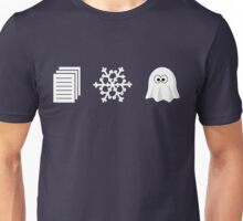 Paper, Snow, A GHOST! Unisex T-Shirt