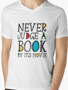 Never judge a book by its movie Mens V-Neck T-Shirt