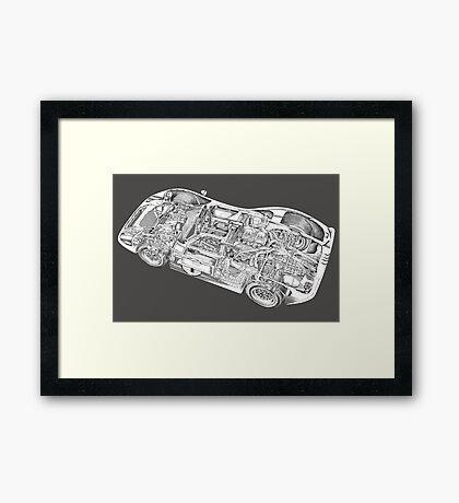 Ford Sports car. Framed Print
