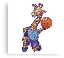 Wild Animal League Giraffe Basketball Star Canvas Print