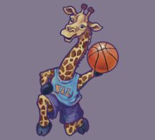 Wild Animal League Giraffe Basketball Star Kids Tee