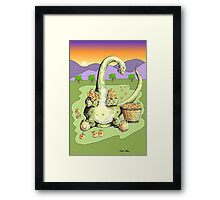 Peach Dragon Framed Print