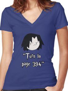 Turn to page 394 Women's Fitted V-Neck T-Shirt