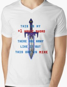 This is my +1 magic sword. Mens V-Neck T-Shirt