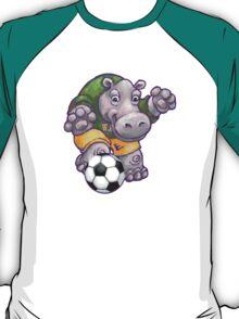 Wild Animal League Hippo Soccer Player T-Shirt