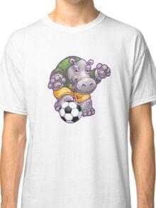 Wild Animal League Hippo Soccer Player Classic T-Shirt