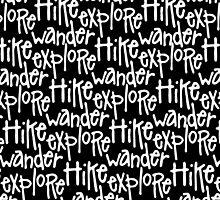 Hike Wander Explore Pattern by LudlumDesign