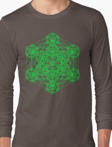 Infinity Cube Green Long Sleeve T-Shirt