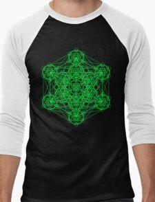 Infinity Cube Green Men's Baseball ¾ T-Shirt