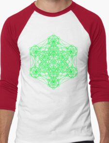 Infinity Cube Green Men's Baseball ¾ T-Shirt