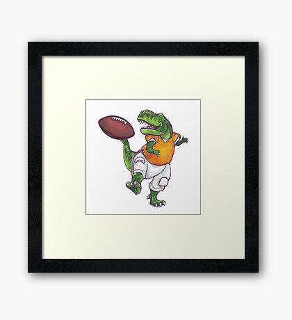 Wild Animal League Dino Football Star Framed Print
