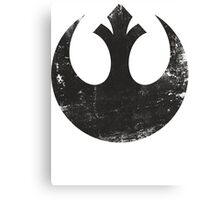 Star Wars Rebel Logo Black Canvas Print