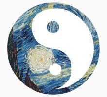 Yin Yang Starry Night  by MythsInc