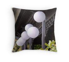 white paper lanterns Throw Pillow