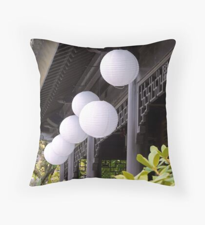 white paper lanterns Throw Pillow
