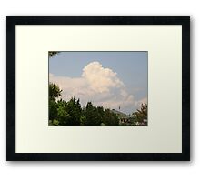 Towering cumulus Framed Print