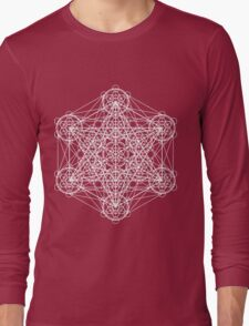 Infinity Cube White Long Sleeve T-Shirt