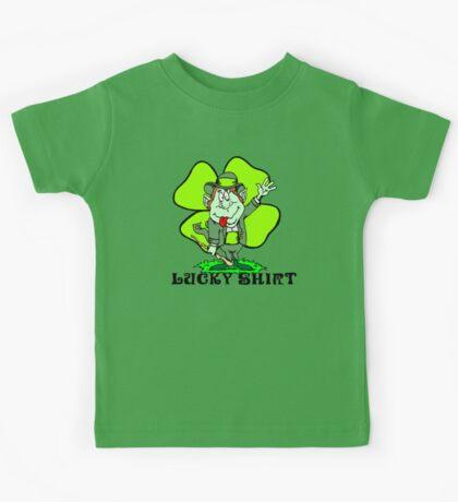 """Funny Irish """"Lucky Shirt"""" Kids Tee"""