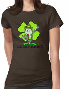 "Funny Irish ""Lucky Shirt"" Womens Fitted T-Shirt"