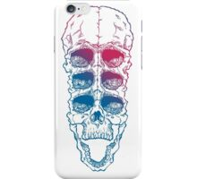 Skull with six eyes iPhone Case/Skin