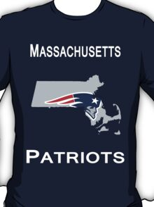 MASSACHUSETTS NEW ENGLAND PATRIOTS T-Shirt