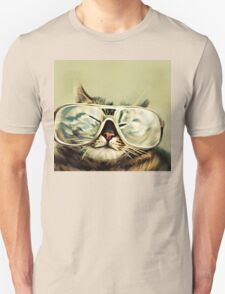 Cute Cat With Glasses Unisex T-Shirt