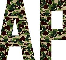 BAPE text military by goldney09