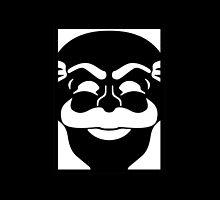 fsociety logo - Mr. Robot - black and white by frnknsteinn