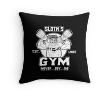 Never Say Die Gym Throw Pillow