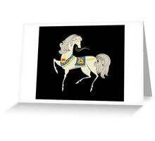 Dancing Horse in White Greeting Card