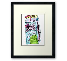 feminist juice Framed Print
