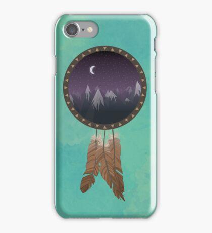 Through a dream catcher iPhone Case/Skin