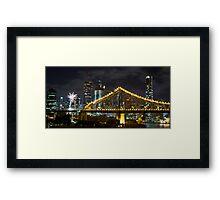 Brisbane New Years Eve  Framed Print