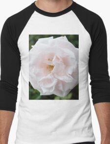 White Rose Design Men's Baseball ¾ T-Shirt