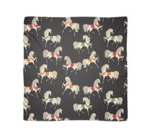 Dancing Horse in Black Background Pattern Scarf