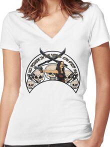 Unstoppable River Women's Fitted V-Neck T-Shirt