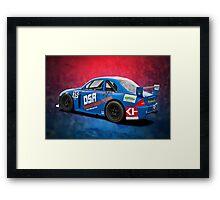 Blue Aussie Racing Car Framed Print