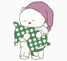 White Teddy Bear One Piece - Short Sleeve