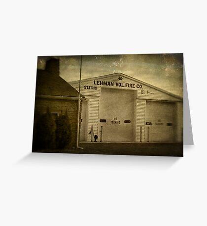 Lehman Vol. Fire Co. Greeting Card