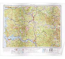 USGS Topo Map Washington Hoquiam 239709 1958 250000 Poster