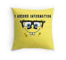 Like a sponge....... Throw Pillow